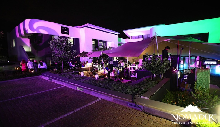 Creative ways of lighting stretch tents