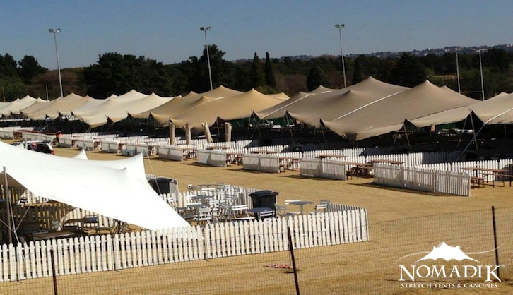 Wacky Wine Festival stretch tents installation
