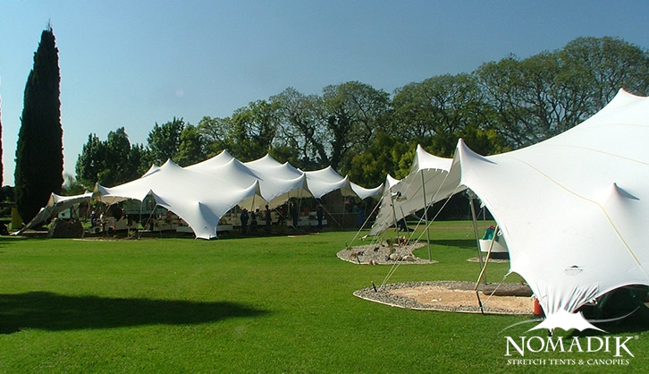 Stretch tents are perfect on a sunny day
