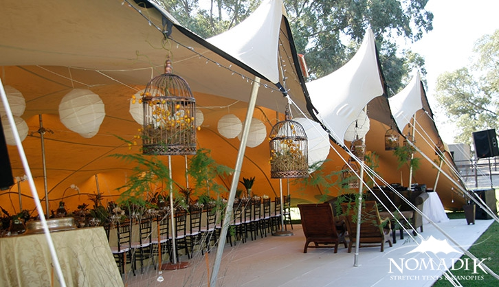 Stretch tent hire for corporate events