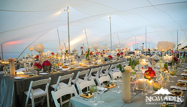 Stretch tent hire for parties