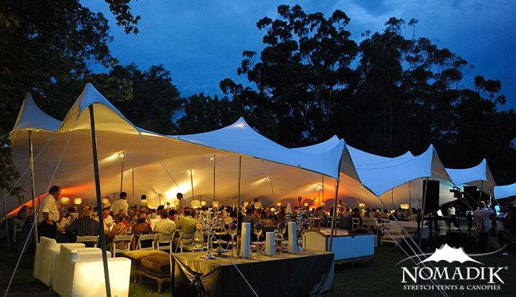 Diemersfontein birthday party stretch tent