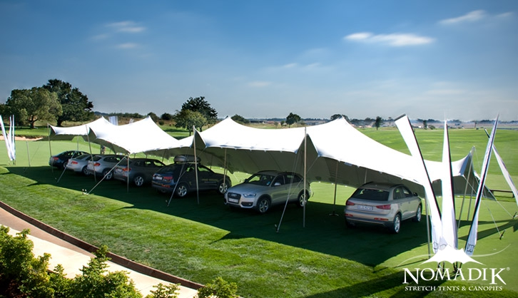 Stretch tent for Audi car launch