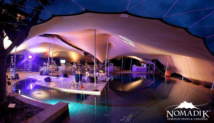 Stretch tent at Zimbali year-end function