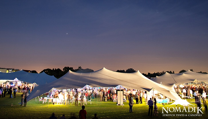 Multiple stretch tent hire for large party