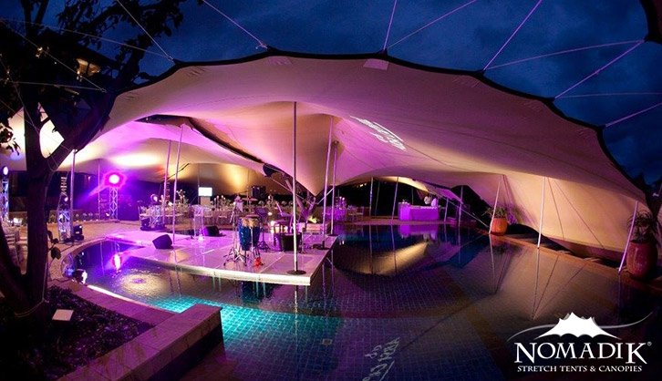 Pool-side Bedouin tent for Zimbali