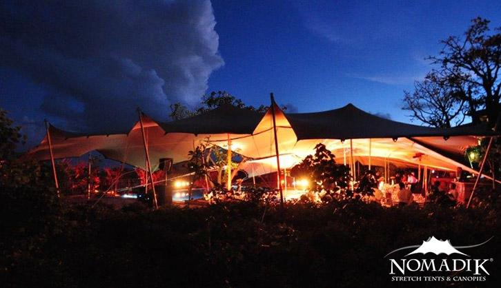 Stretch tent installation at Kievietskroon