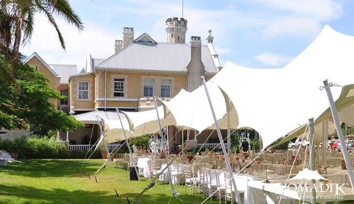 Ellerman House stretch tent installation