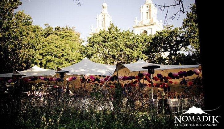 Stretch tents installed in Cape Town Gardens