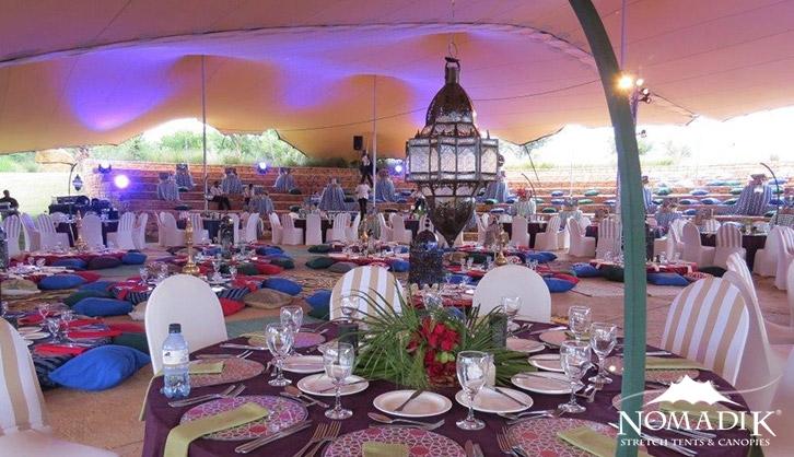 Moroccan-themed bedouin tent