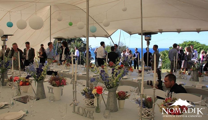Wedding tent at Kommetjie wedding
