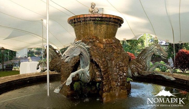 Fountain at elegant cocktail party