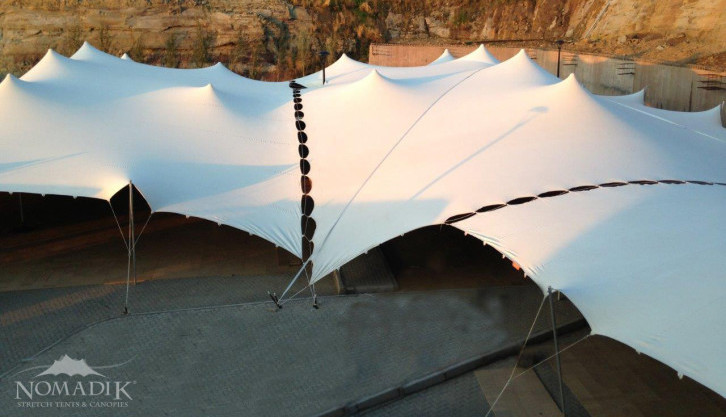 Joined Stretch Tents creating a large venue