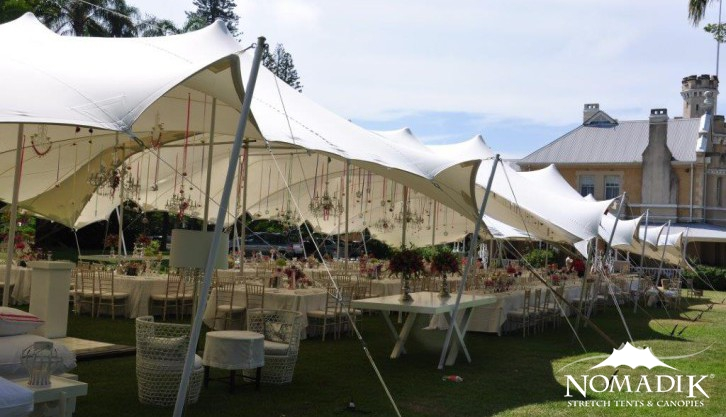 Stretch tent outside event