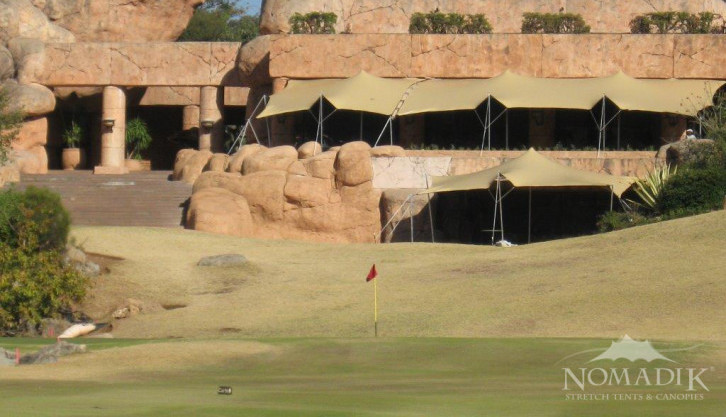 Sun City golf course with stretch tent installation