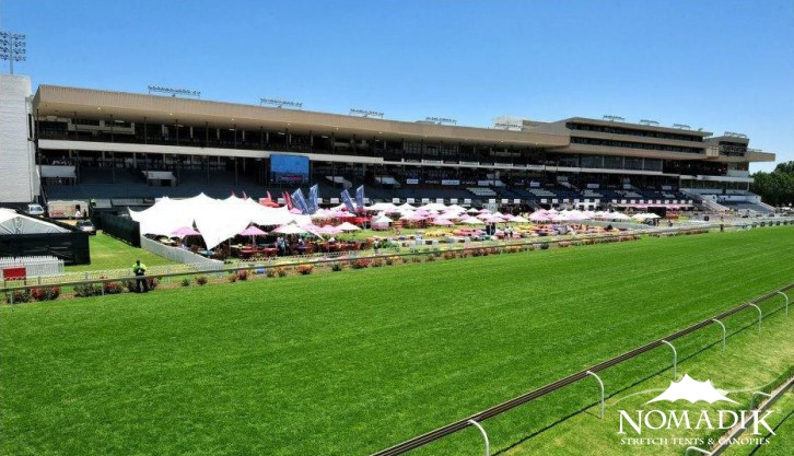 Stretch tent hire at the Durban July