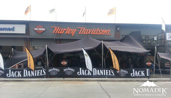 Jack Daniels promotional event uses stretch tents
