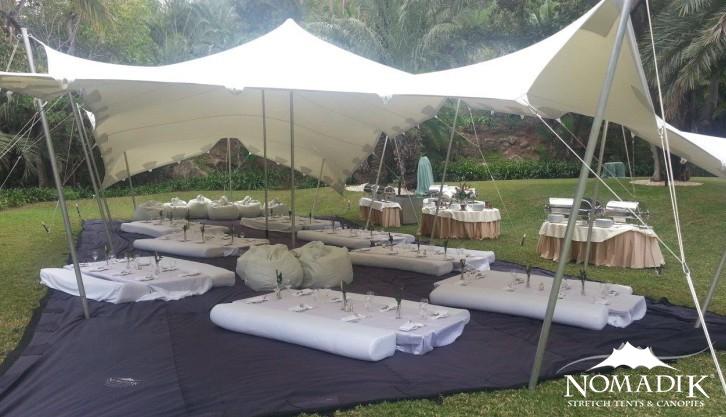 Stretch tents make a perfect picnic